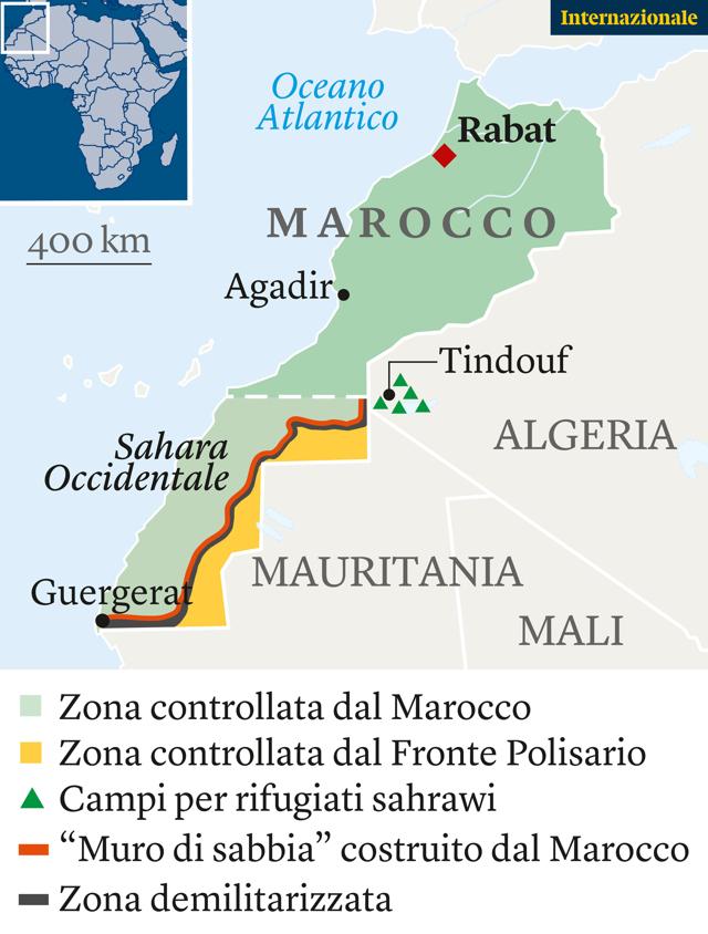 Cartina Politica Del Marocco.Nel Sahara Occidentale Tornano A Parlare Le Armi Khadija Mohsen Finan Internazionale